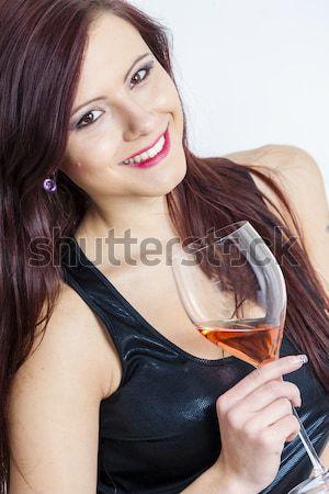 Portre kadın iç çamaşırı saç genç Stok fotoğraf © phbcz