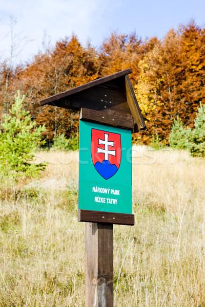 Baixo Eslováquia sinais parque cair objetos Foto stock © phbcz