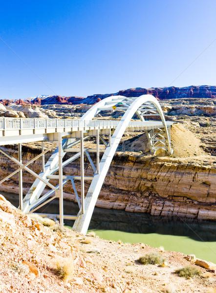 bridge over Lake Powell, Glen Canyon, Utah, USA Stock photo © phbcz