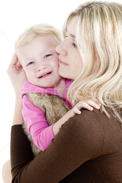 portrait of mother with her crying little daughter Stock photo © phbcz