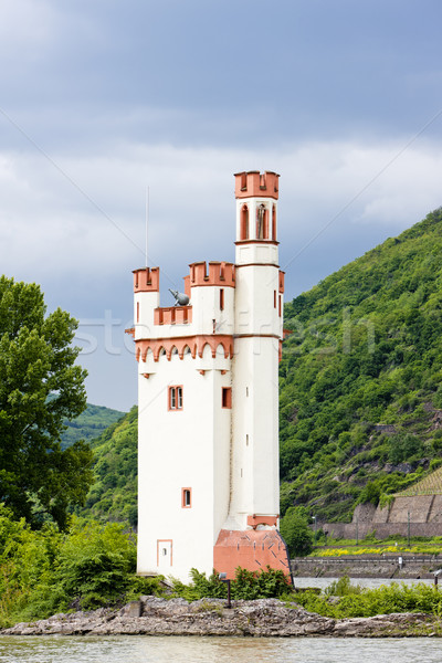 Binger Maeuseturm, Mouse Tower on Mouse Island, Rhineland-Palati Stock photo © phbcz