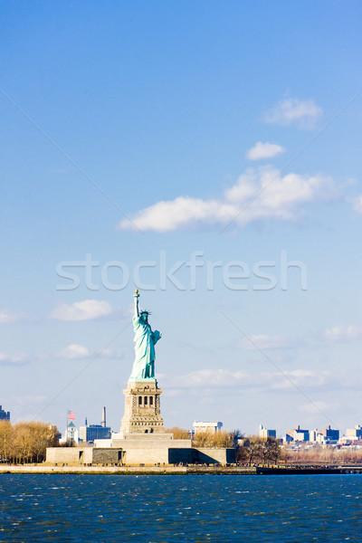 Hörcsög sziget szobor New York USA utazás Stock fotó © phbcz