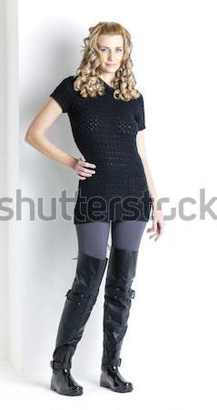立って 女性 着用 黒 服 ブーツ ストックフォト © phbcz