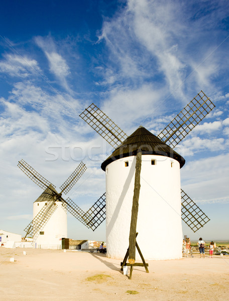 windmills, Campo de Criptana, Castile-La Mancha, Spain Stock photo © phbcz