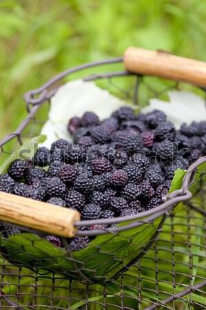 バスケット 健康 果物 クローズアップ ストックフォト © phbcz