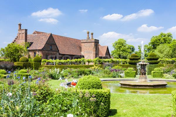 Tuin huis Engeland gebouw reizen architectuur Stockfoto © phbcz