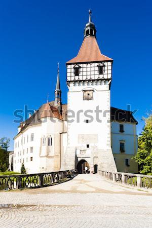 Sino torre urbano Eslováquia edifício Foto stock © phbcz