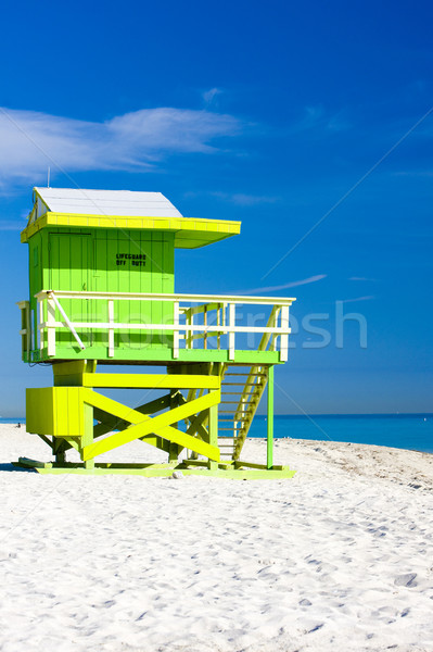 Cabina playa Miami Florida EUA mar Foto stock © phbcz