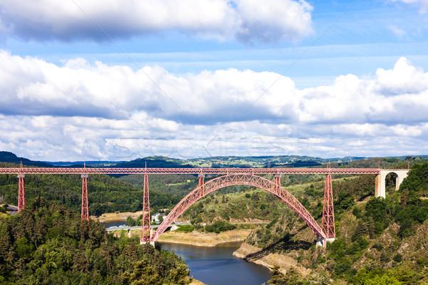 Garabit Viaduct, Cantal Department, Auvergne, France Stock photo © phbcz