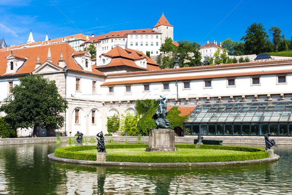 Valdstejnska Garden and Prague Castle, Prague, Czech Republic Stock photo © phbcz