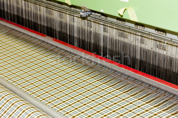 Textiles machine technologie industrie usine tissu Photo stock © phbcz