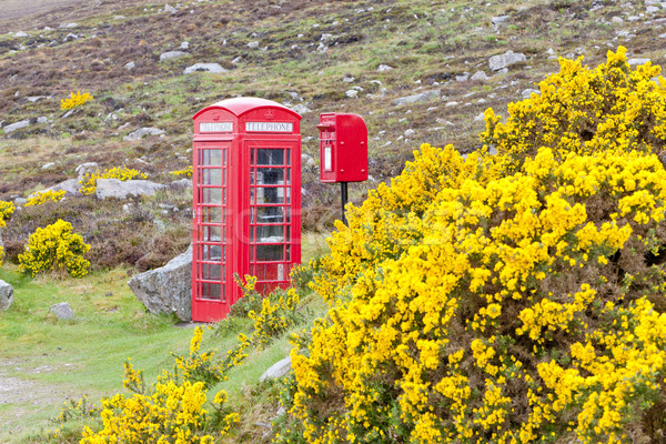 telephone booth and letter box near Laid, Scotland Stock photo © phbcz