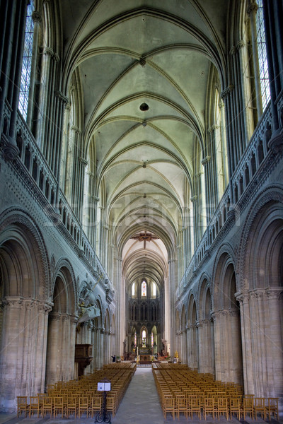 interior of Cathedral Notre Dame, Bayeux, Normandy, France Stock photo © phbcz