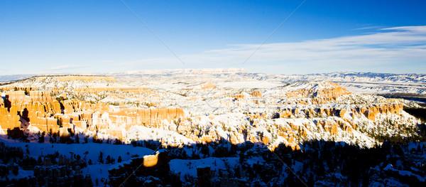 Kanion parku zimą Utah USA krajobraz Zdjęcia stock © phbcz