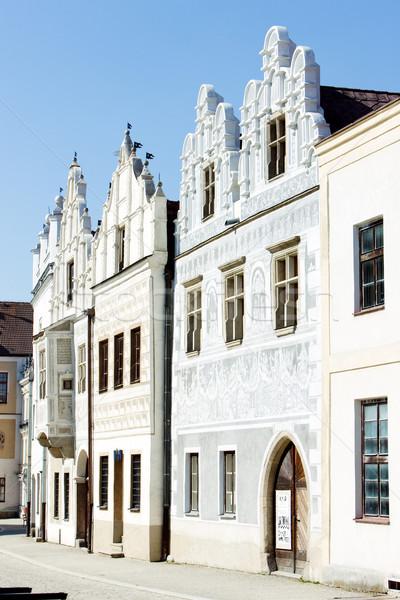 renaissance houses, Slavonice, Czech Republic Stock photo © phbcz