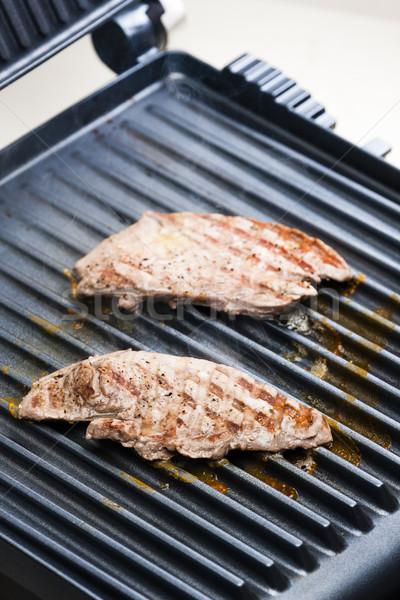 бифштекс электрических гриль мяса барбекю барбекю Сток-фото © phbcz