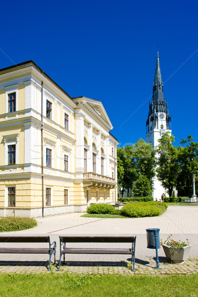 Town Hall Square, Spisska Nova Ves, Slovakia Stock photo © phbcz
