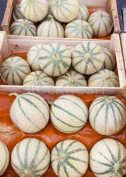市場 フランス 食品 フルーツ メロン 健康 ストックフォト © phbcz