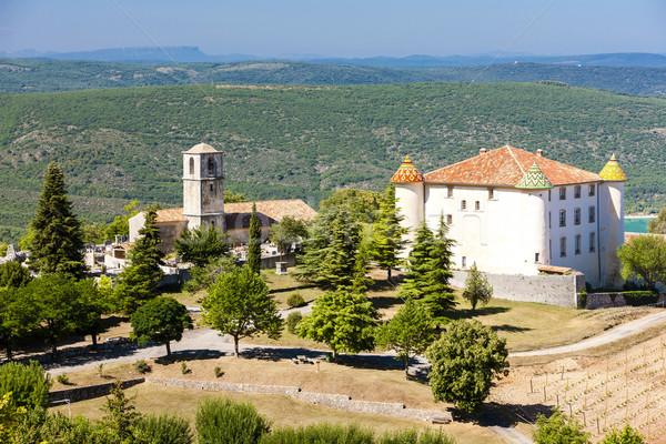 Kerk afdeling Frankrijk kasteel architectuur geschiedenis Stockfoto © phbcz