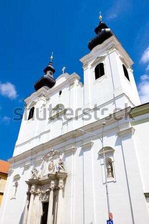 Church of Saint Cross, Znojmo, Czech Republic Stock photo © phbcz