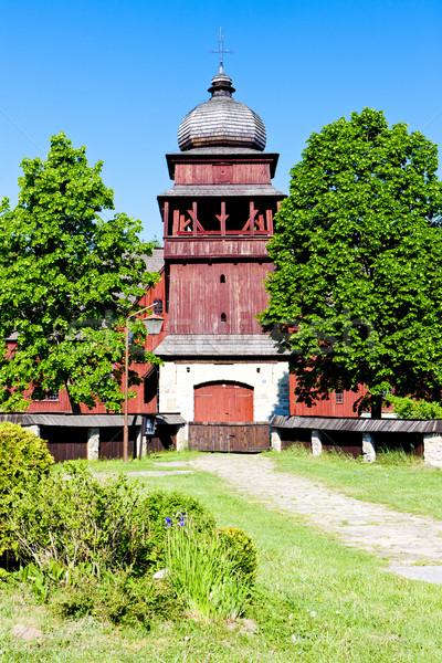 Bois église croix Slovaquie Photo stock © phbcz