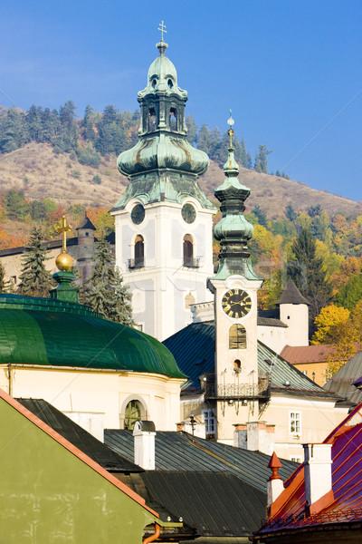 town hall and Old Castle, Banska Stiavnica, Slovakia Stock photo © phbcz