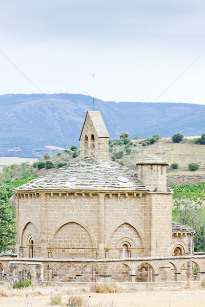 Stock fotó: Templom · szent · út · Santiago · épület