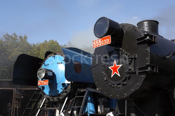 Vasút múzeum Csehország gép szállítás gőz Stock fotó © phbcz
