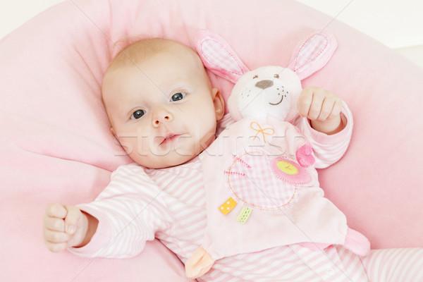 Retrato tres meses edad juguete Foto stock © phbcz