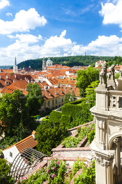 Ledeburska Garden and Saint Nicholas Church, Prague, Czech Repub Stock photo © phbcz