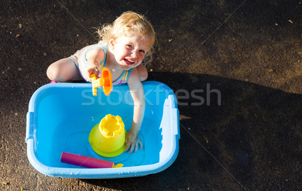 toddler girl playing in summer Stock photo © phbcz