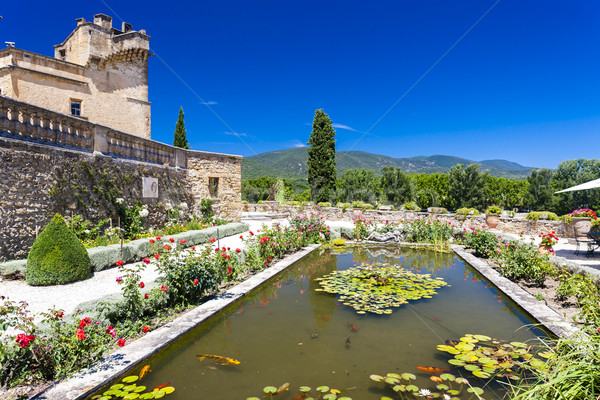 garden and palace in Lourmarin, Provence, France Stock photo © phbcz