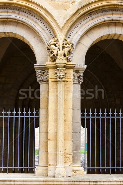 Abdij afdeling Frankrijk architectuur boog buiten Stockfoto © phbcz