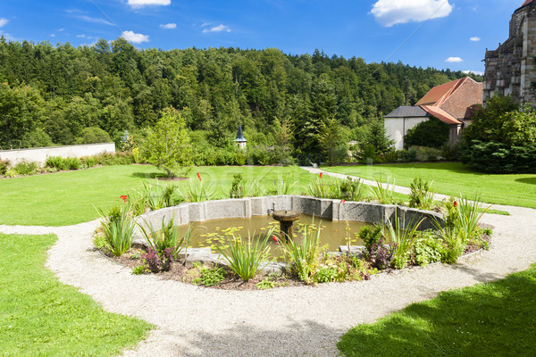 garden of cistercian monastery in Zwettl, Lower Austria, Austria Stock photo © phbcz
