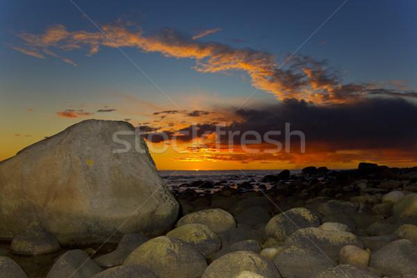 sunset, Lista, Norway Stock photo © phbcz