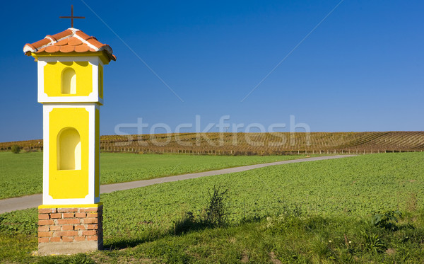 column of the Crucifixion near Strachotin, Czech Republic Stock photo © phbcz