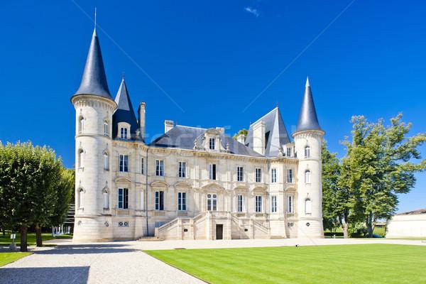 Chateau Pichon Longueville, Bordeaux Region, France Stock photo © phbcz