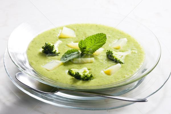 Batata brócolis sopa prato legumes Foto stock © phbcz