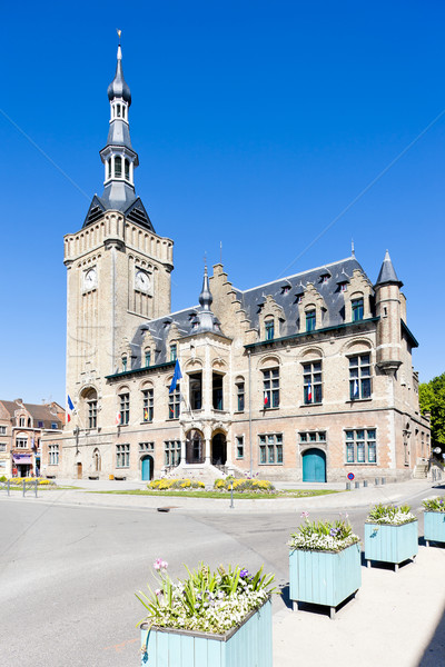 Mairie France ville architecture histoire tour Photo stock © phbcz
