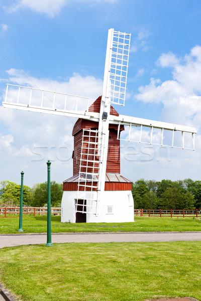 Madingley Windmill, East Anglia, England Stock photo © phbcz