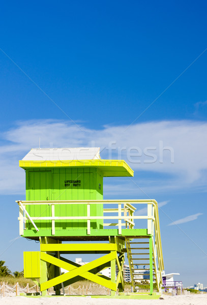 Foto stock: Cabina · playa · Miami · Florida · EUA