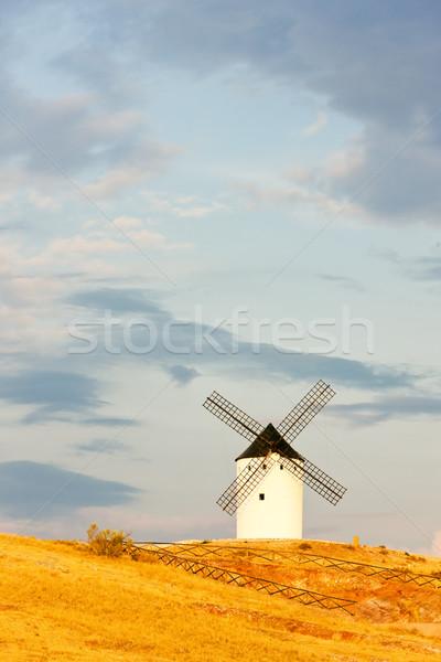 Windmolen san juan Spanje reizen architectuur Stockfoto © phbcz
