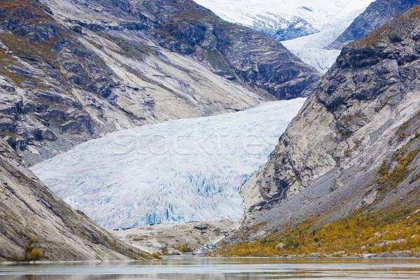 Geleira parque Noruega neve montanhas lago Foto stock © phbcz