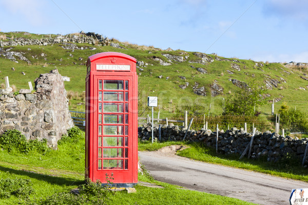 Stock photo: telephone booth, Clashnessie, Highlands, Scotland