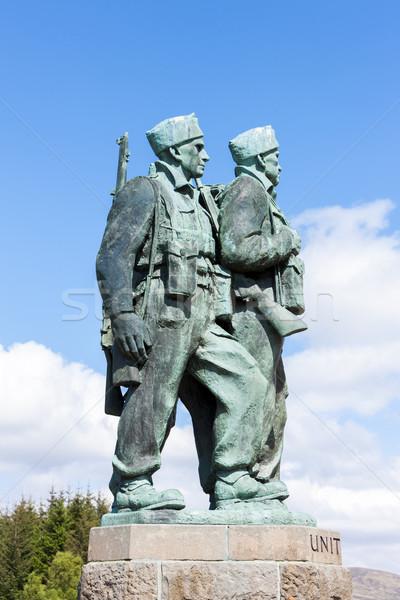Comando puente tierras altas Escocia guerra soldado Foto stock © phbcz