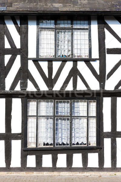 half timbered house, Leominster, Herefordshire, England Stock photo © phbcz