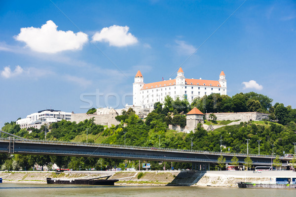 Bratislava château Slovaquie ville pont Voyage Photo stock © phbcz