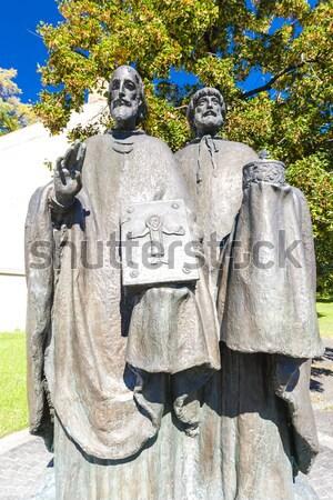Estátua Eslováquia europa escultura ao ar livre Foto stock © phbcz