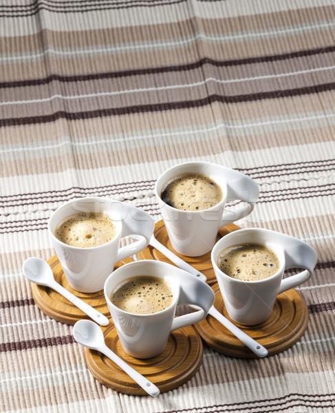 Kahve yer sıcak kaşık nesne Stok fotoğraf © phbcz
