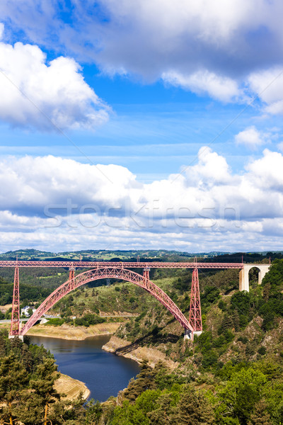 Afdeling Frankrijk brug reizen architectuur Europa Stockfoto © phbcz